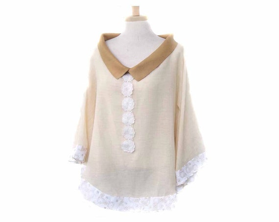 Lightweight Tunic  with Batwing Sleeves for Women and Girls