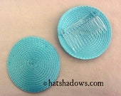 Light Blue Fascinator Hat Base with Comb
