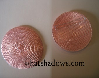 Pink Straw Fascinator Millinery Hat Base with Comb