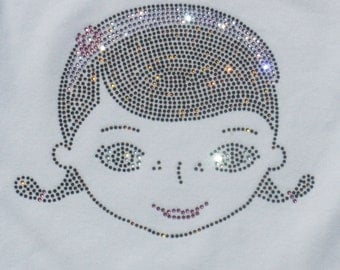 """6.7"""" Doc McStuffin iron on bling rhinestone TRANSFER for Disney t-shirt or costume WHOLESALE available"""