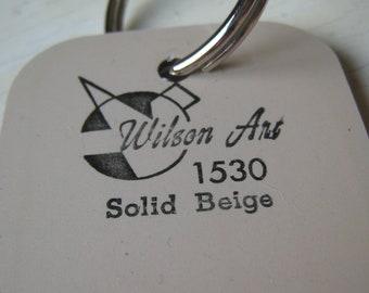 Wilson Art Laminate Sample Key Ring Solid Beige