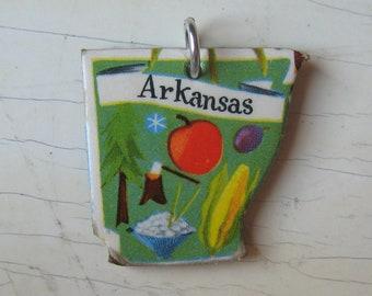 Arkansas Vintage Puzzle Pendant