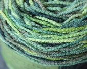 The Forest - Hand Dyed Bamboo and  Cotton Sock Yarn- Vegan Friendly - 377 yds