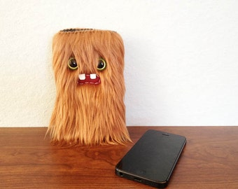 Copper iPhone Monster Sleeve (Two Green Eyes)