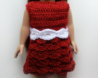 Doll Shell Dress with Belt - PDF Crochet Pattern - Instant Download