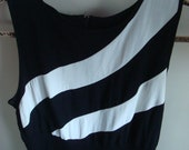 Vintage Black and White Maxi Dress in Small by, Brioche of California