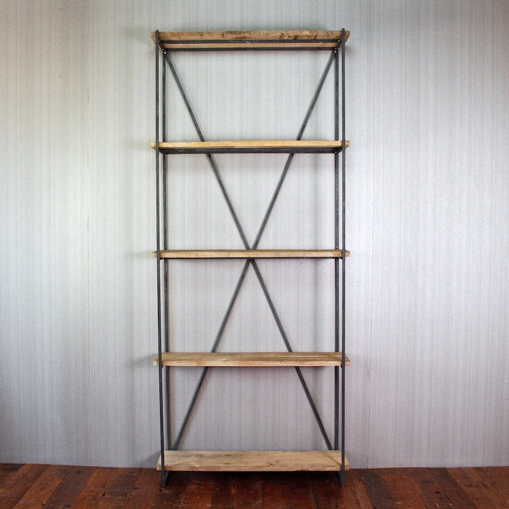 Bookcase made of reclaimed wood from s barn by