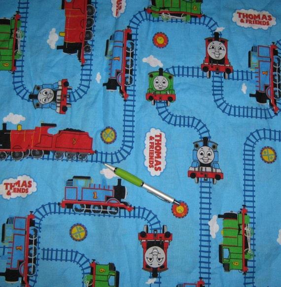 Thomas the train fabric per yard for Train fabric by the yard
