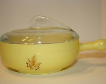 Glasbake Casserole Baking Dish Yellow Individual Size