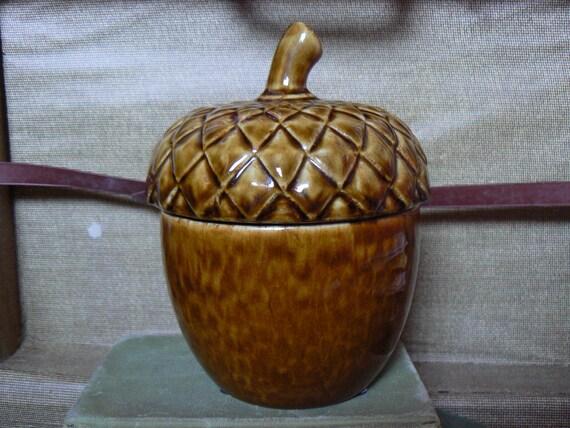 Acorn Cookie or Candy Jar Vintage