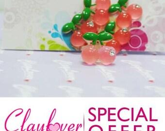 Cabochon Cherry with Diamond (XH-507), Dark Pink (XH-336), Light Pink (XH-347)