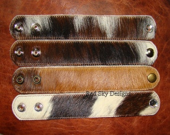"""Volume Discount Packs - Cowhide Leather Supply Cuffs - 1 1/2"""" Wide -  Bracelets - Leather Supply Cuffs - Cowhide Cuffs - Jewelry Supply"""