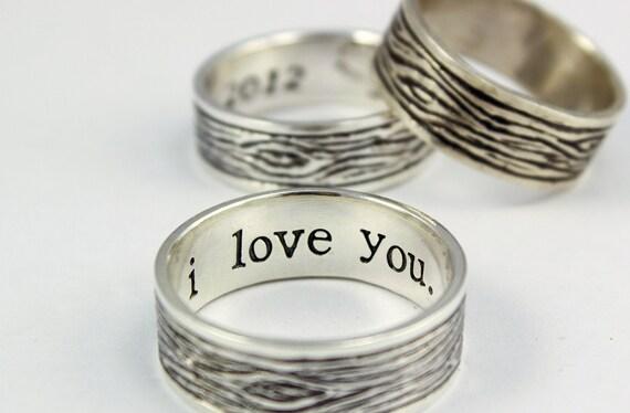 tree bark sterling silver rustic men 39 s ring mens by abellablue. Black Bedroom Furniture Sets. Home Design Ideas