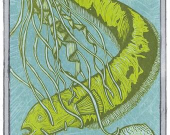 Moog Woodcut Print