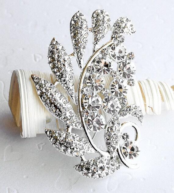 SALE Rhinestone Brooch Crystal Brooch Bridal Brooch Bouquet Hair Comb Shoe Clip Wedding Cake Decoration Jewelry Supply BR017