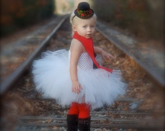 Little Miss Frosty...Snowman Tutu Dress, Mini Top Hat, Scarf, and Leg Warmers- sz 0-5T