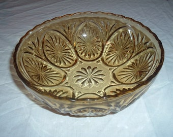 VINTAGE amber fruit bowl