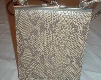 vintage snake skin look  shoulder bag  by pacific express