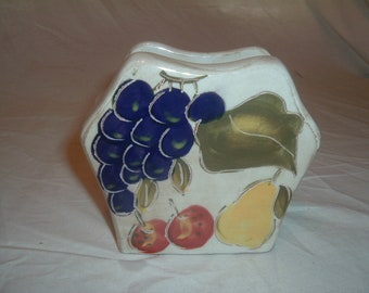 VINTAGE napkin holder fruit design
