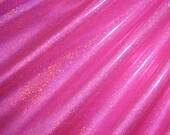 Fuchsia/Hot Pink Holographic Mini Dot Stretch Spandex Fabric