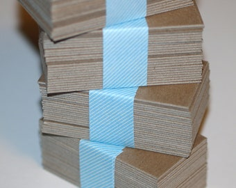 """Kraft Chipboard Business Card Blanks (50) ... Heavyweight Cards Seller Supplies 2"""" x 3.5"""" Biz Cards DIY Cards Blank Cards Paperboard Thick"""