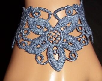 Braclet Cuff Soft Venise Lace Art Textile You Choose Collar Unique Elegant Romantic Tatoo Jewerly