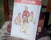 Vintage Pattern Ladies Shirt Simplicity 6777 Size 14 70s 1970