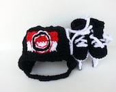 Ottawa Senators helmet and ice skates, nhl skates,  senators second logo