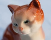 Beswick ginger cat, cat figurine, ceramic cat, pottery, vintage cat figurine, made in England, brown cat, vintage ceramics