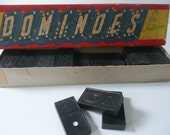 Vintage Dominoes by Halsam Double Six Dragon Game Pieces Tiles