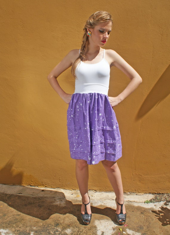 Full Skirt in Lavender Cotton with Elastic Waistband FINAL SALE