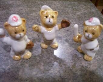 Baseball figurines Bears Little Sluggers porcelain