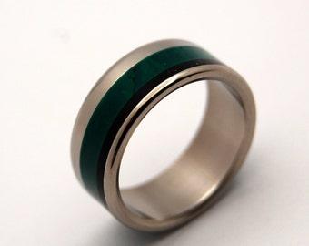 wedding rings, titanium rings, wood rings, men's ring, women's ring, unique wedding ring, engagement rings, commitment ring - JADE DIMENSION
