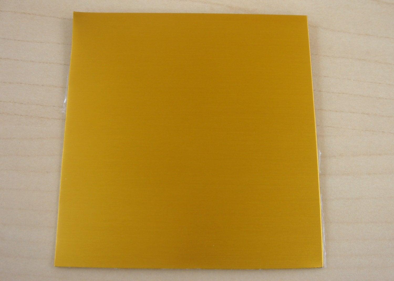 3x3 Anodized Aluminum Sheet Gold 24 Gauge