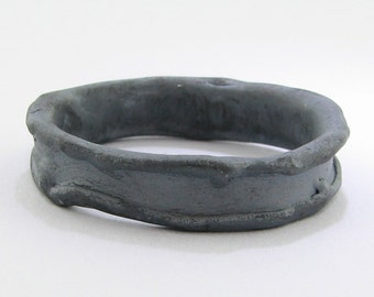 Medium Melted Band, Black Silver