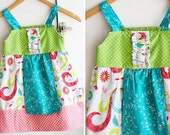 Reserved for Kara Bird Apron Dress size 4 Ready to ship