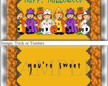FUN Halloween Candy Wrappers Party Favors