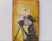 Switchplate - The Vintage Camera - Wall Decor - Lighting decor - Single light switchplate with OOAk imagery