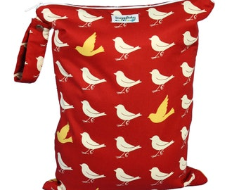 LARGE Wet Bag for Cloth Diapers, Mama Cloth , Wet Swimsuits and More  - Chirp - FAST SHIPPING - Diaper Bag Essential