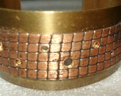 Handmade Multi-Layed Textured Brass and Copper Cuff