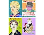 Bargain car lot special - four EastEnders Christmas cards