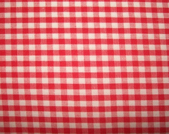 RED and WHITE GINGHAM    2.25  Yards       10.00