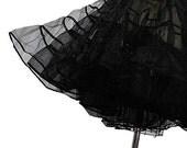 R E S E R V E D Crinoline - Vintage 50s Style Black Petticoat Slip for Your Dress or Skirt SIZE SMALL