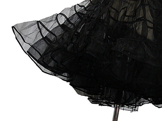 R E S E R V E D Crinoline - Vintage 50s Style Black Petticoat Slip for Your Dress or Skirt SIZE SMALL