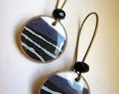Etched Stripe Paper Earrings