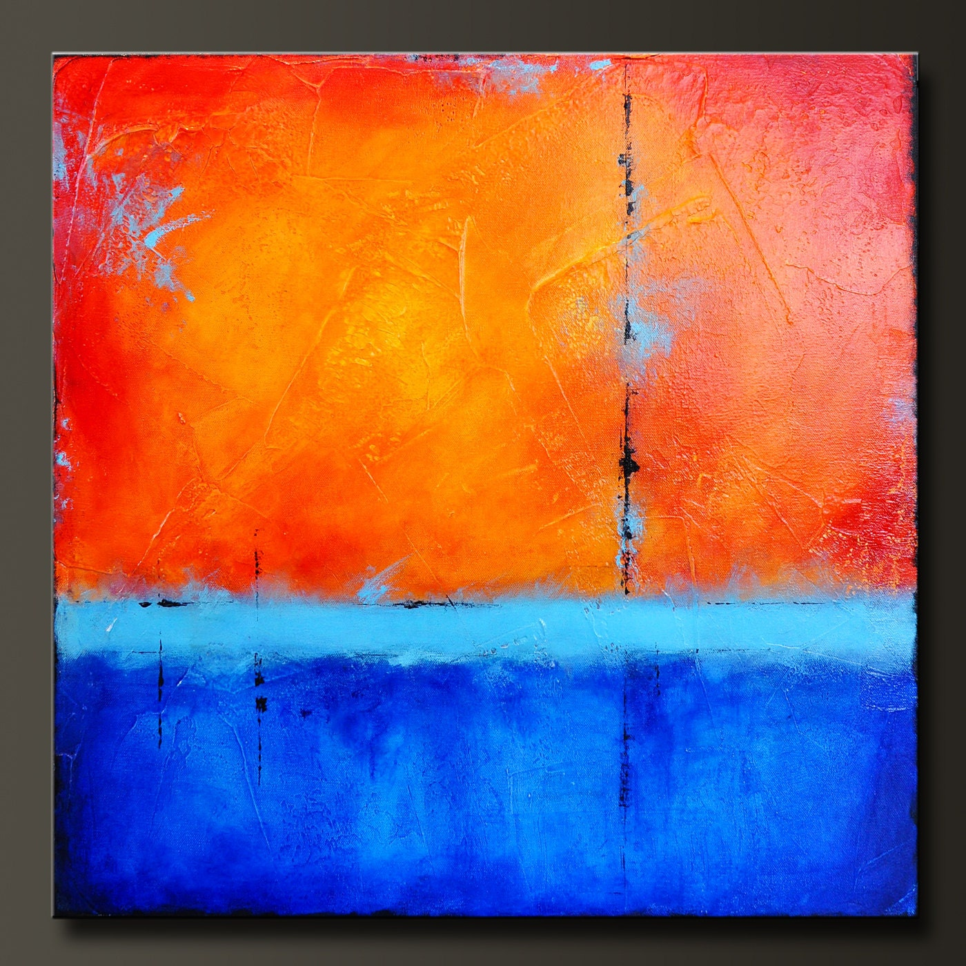 Radiance 24 X 24 Abstract Acrylic Painting By