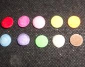 100 pcs - Mix color Felt Round Center Padded Appliques - size 9 mm