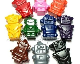Robot crayons set of 10