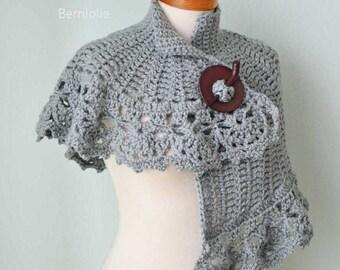 HERA, Crochet capelet pattern pdf