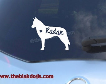 Belgian Malinois Silhouette Vinyl Sticker - personalized Car Decal